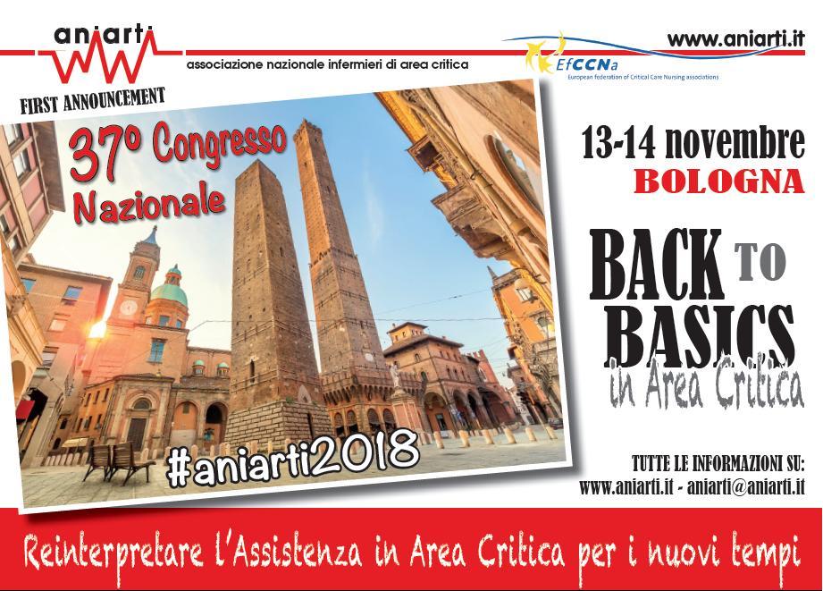 37° CONGRESSO NAZIONALE ANIARTI – BOLOGNA 13-14 NOVEMBRE 2018