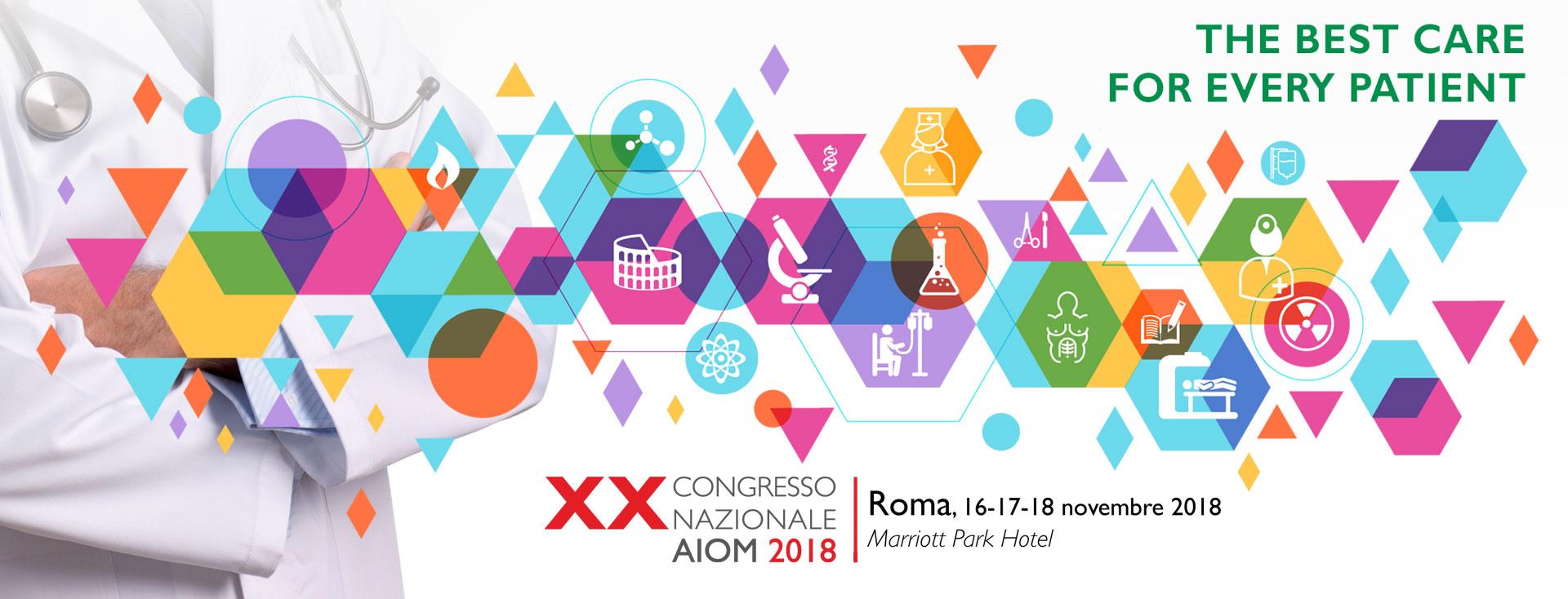 XX CONGRESSO NAZIONALE AIOM – ROMA 16-18 NOVEMBRE 2018