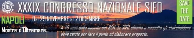 XXXIX CONGRESSO NAZIONALE SIFO – NAPOLI 29NOVEMBRE/2DICEMBRE 2018